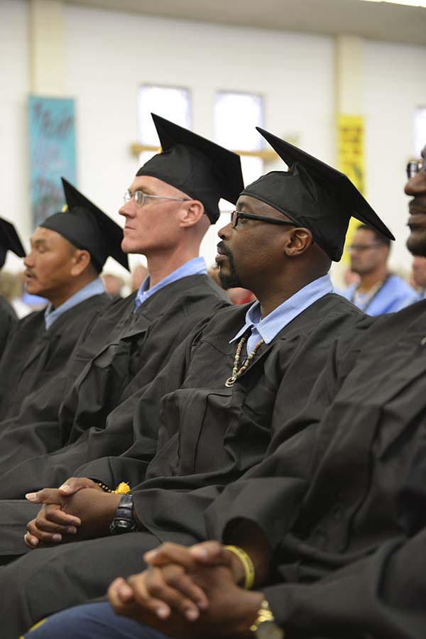 Graduating students of the Prison University Project (PUP) at San Quentin Prison