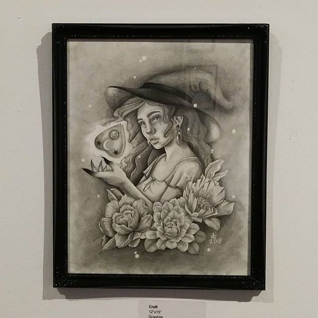 #soft #opening before #Halloween kicks off @trojanmonkartgallery New work from artist: @deztattoos  #artistsoninstagram #art #gallery #illustration #trojanmonkart #inktober #spiritual #bayarea #painting #eastbay #westcoast #halloween #pencil #October #vallejo #sf #abstract #artcollective #love #witch #socialmedia #insta #instagram #instalike #instago #freelance