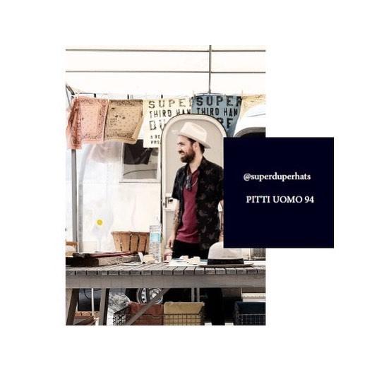 Third Hand project at Pitti immagine uomo 94. @superduperhats #pittiuomo#superduperhats#hats#fashion#hatterscrew#airstream