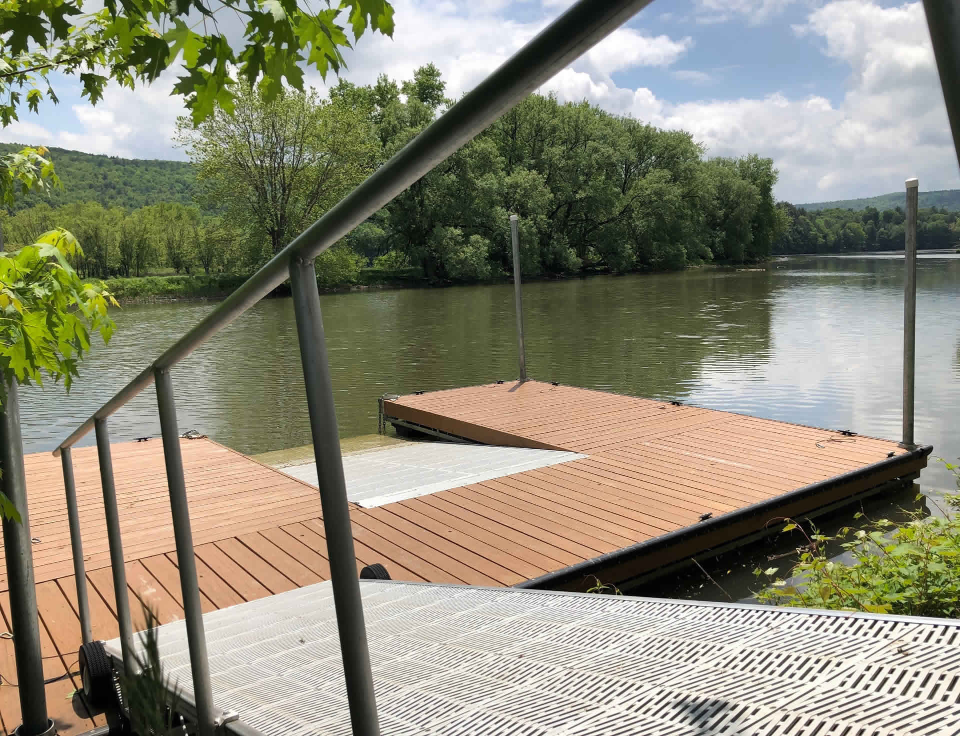Launch With Ease   Custom Kayak Launch Ramp   Portlandville Location   Rental Rates & Info