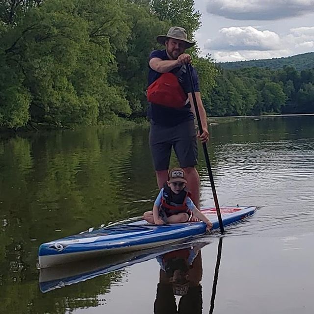 Nothing beats a cruise with your best bud  #kickbackandkayak  #3locations #seasonpass #cooperstownkayaks #thisiscooperstown #susquehannariver #susquehannaSUP #BICSUP #NRS #wernerpaddles #fathersday #canoeandkayakrentalsandsales