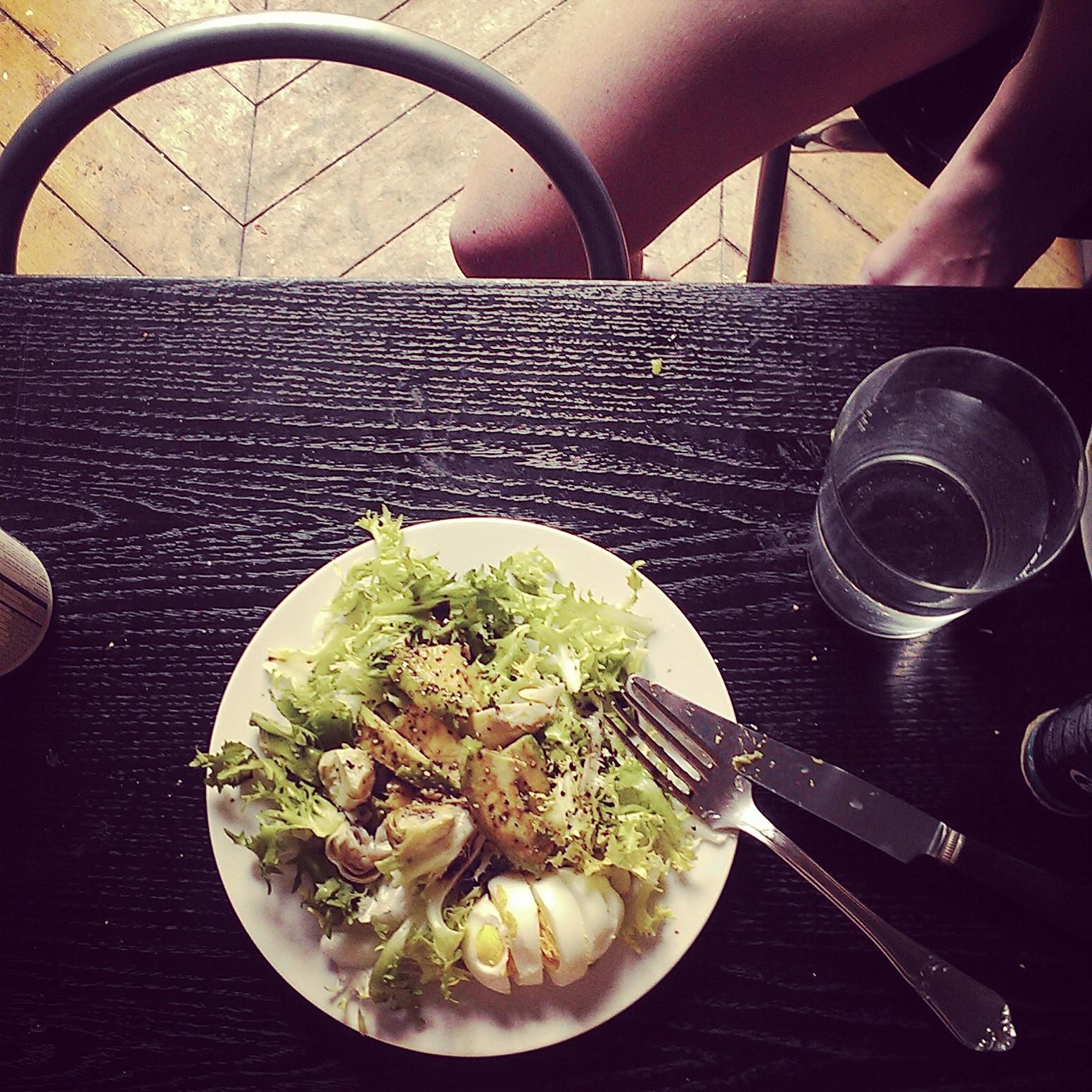 Parisian breakfast salad