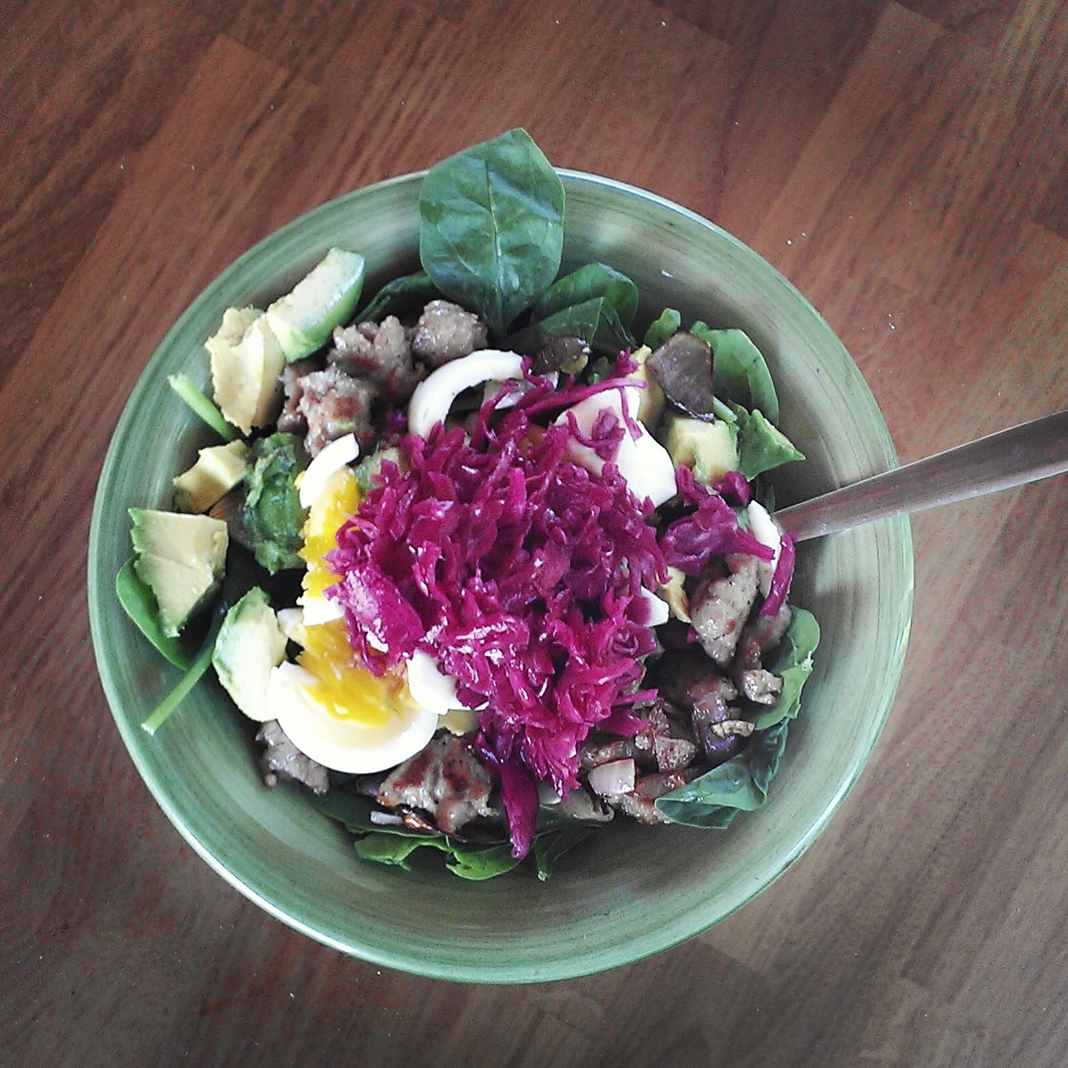 Salad with Sauerkraut