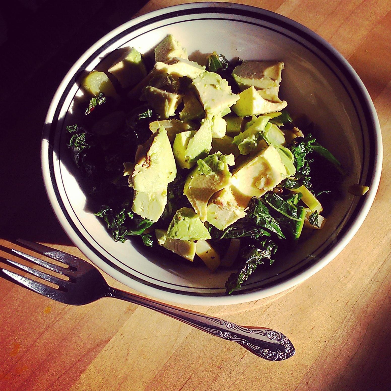 Brocoli, kale and avocado