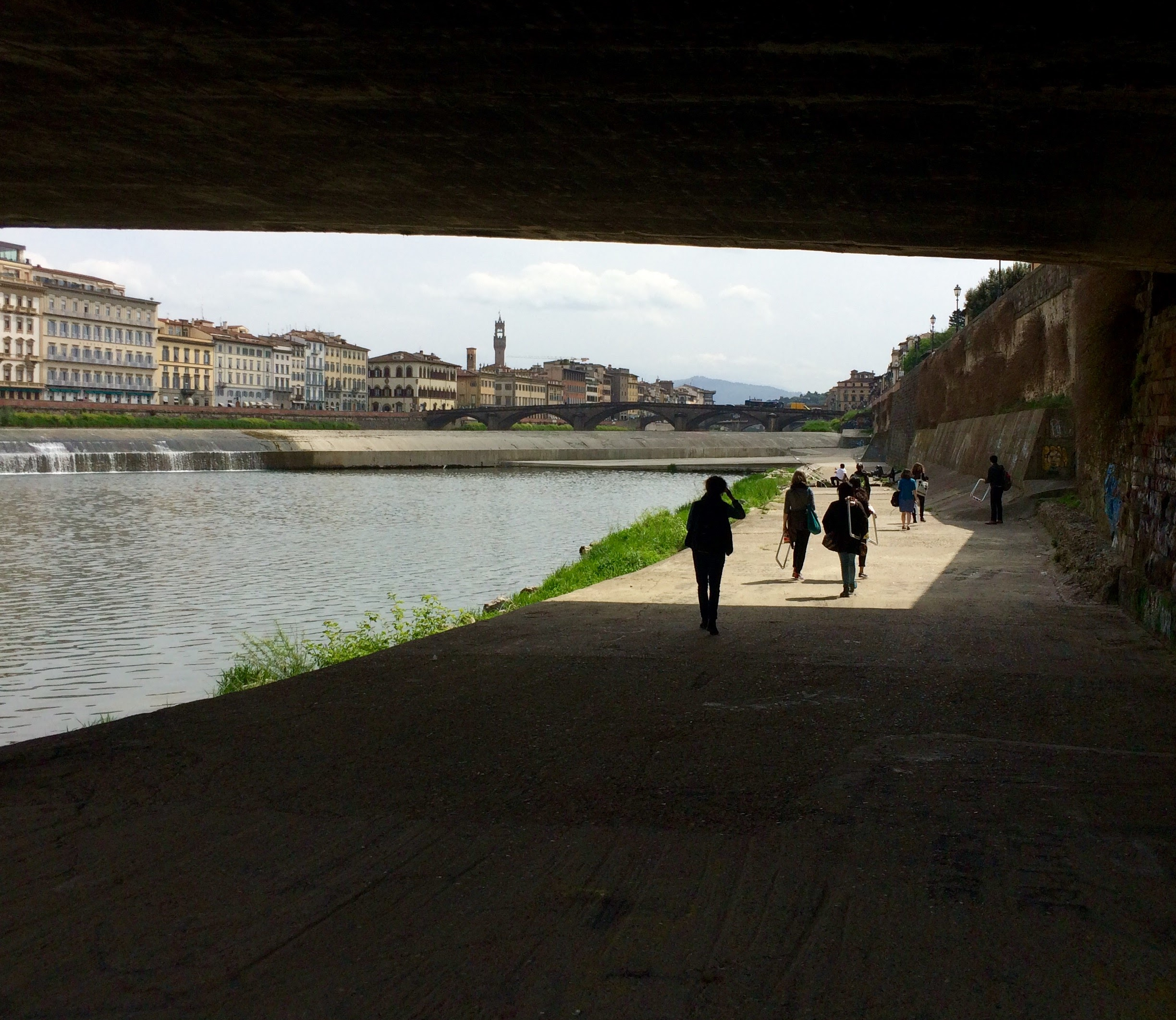 Under the Ponte Trinita bridge.  Photo Credit: Sandrine Delattre