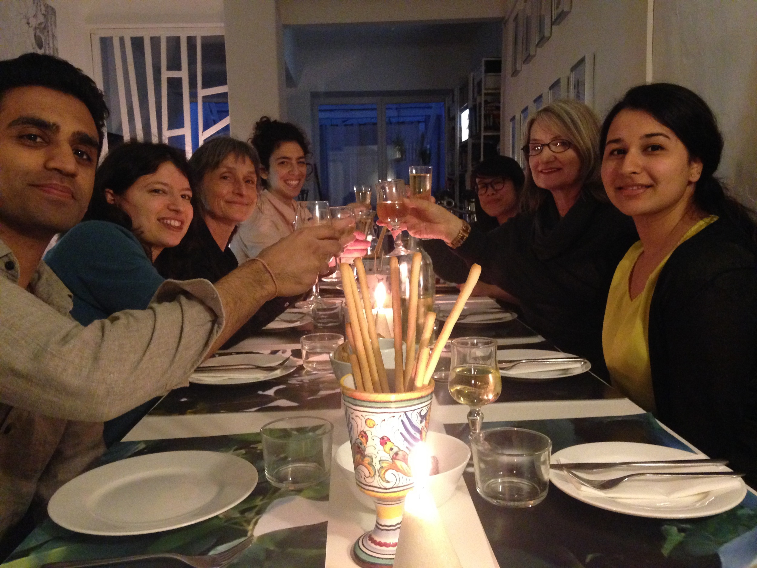 We ended the day with a curated meal by Katia Giuliani, local artist and chef!