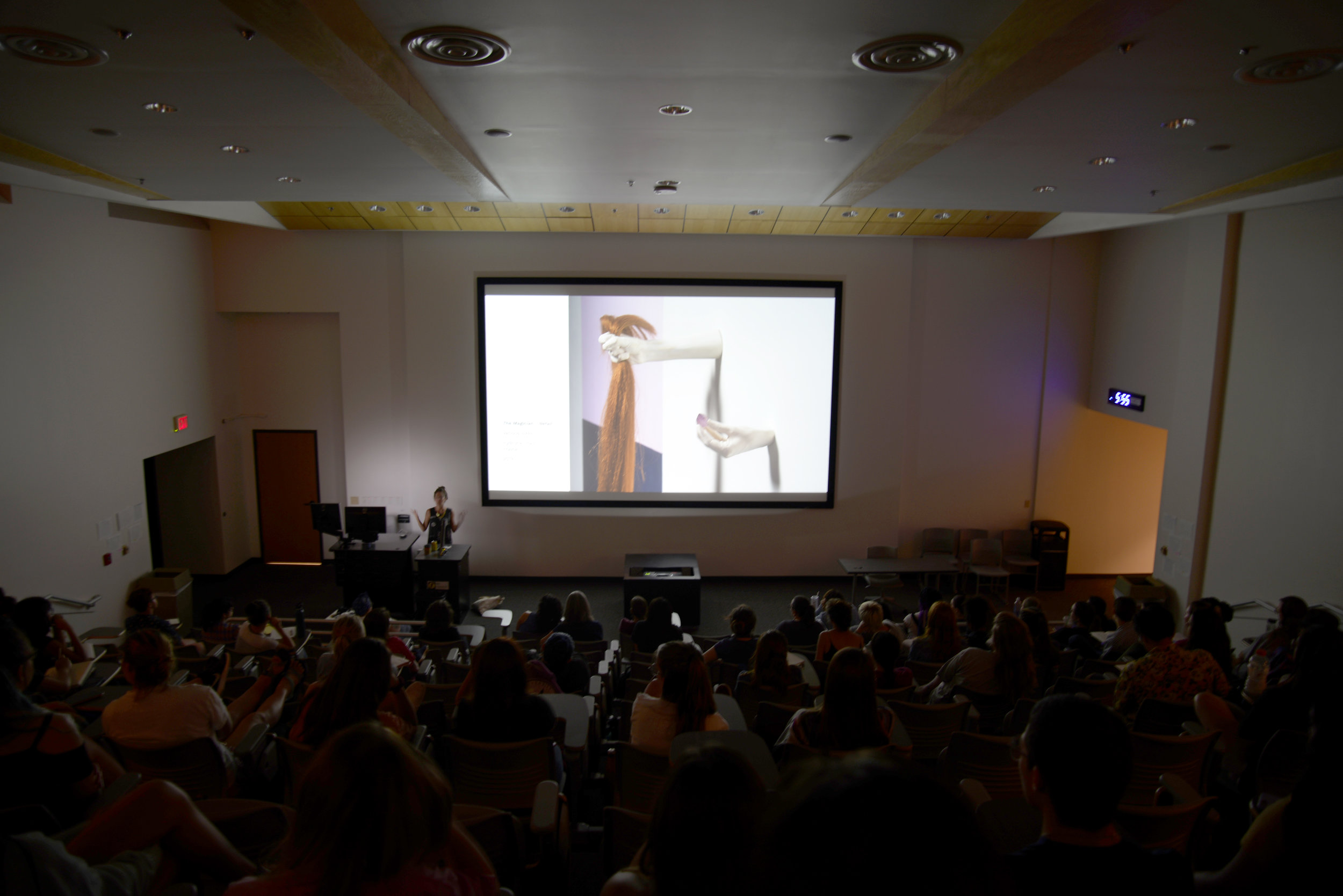 Artist Talk/Real Talk at Texas State U, image courtesy of  Jimmy Canales
