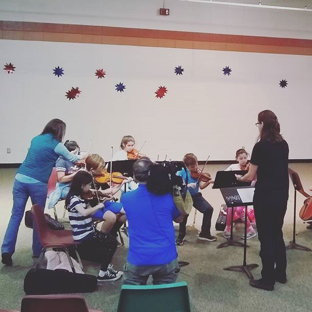Some of our students got to meet @tammywatford while recording for an upcoming segment! Tammy, thank you for coming to see our students! #musicworks #violin #cello #asheville #neverstoplearning #elsistemainspired #orchestra