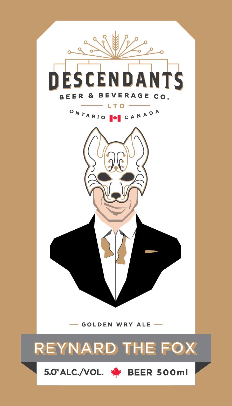 Character design for Descendents beer label