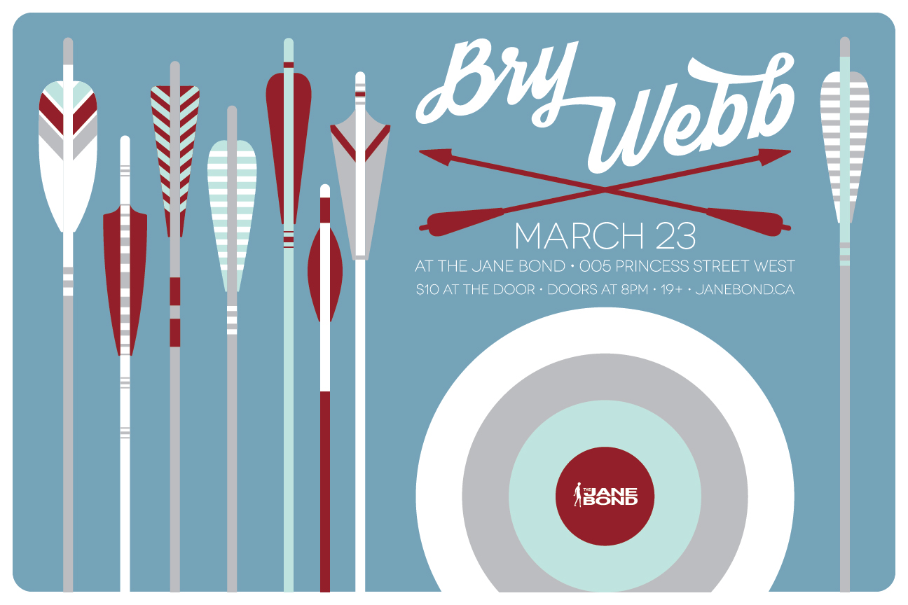 Gig poster for Bry Webb on his recent solo tour.