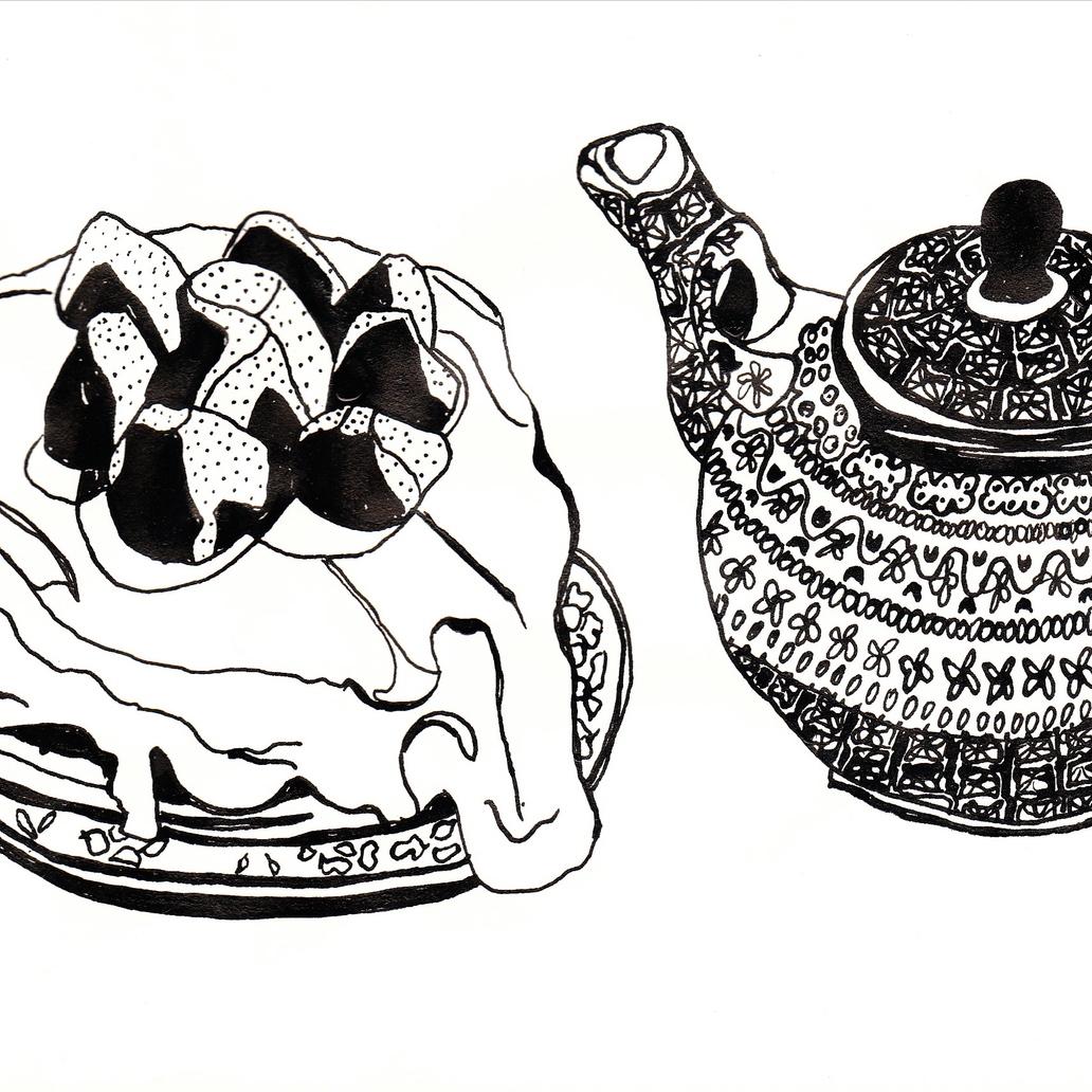 Cake and teapot, 2012