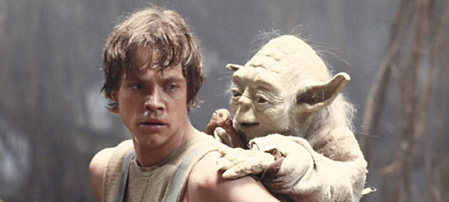 Think of yourself as Yoda. And think of your audience as Luke Skywalker.