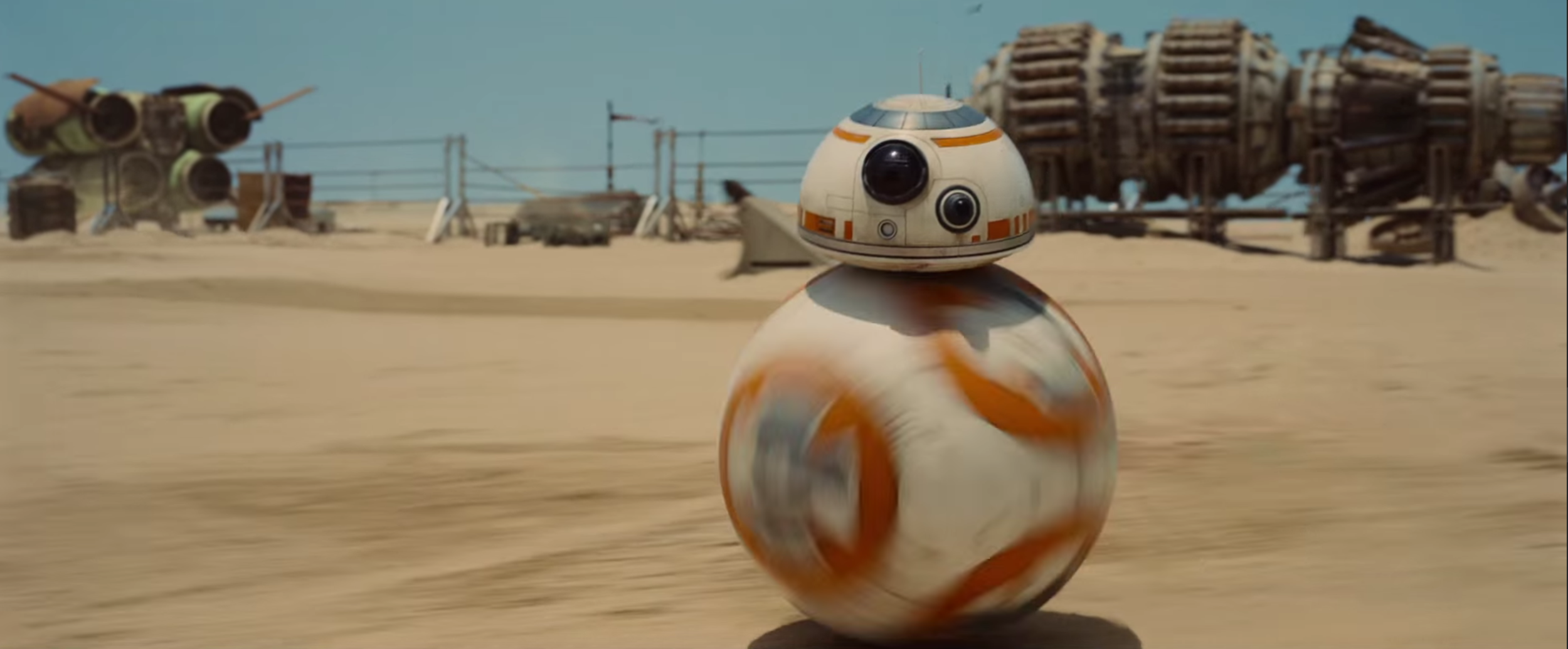 They actually built a real life BB-8 droid for the new movie.
