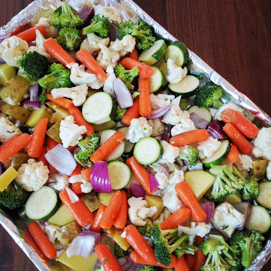 Roasted Veggies, 3 Ways