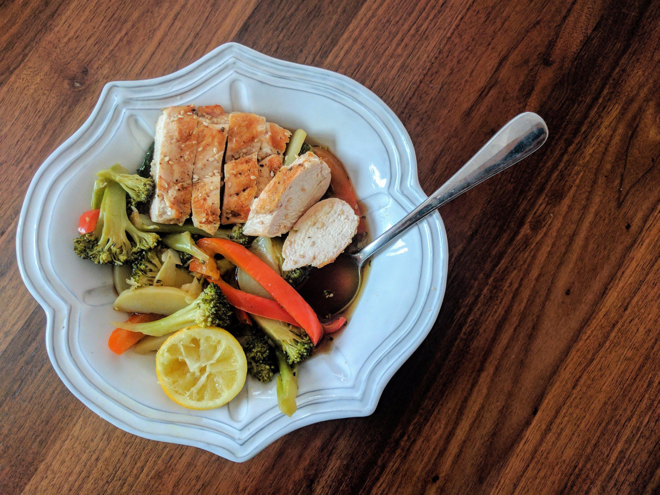 Chicken & Veggie Broth Bowl