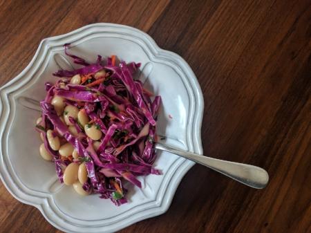 Beans + Slaw + .... (try chicken or feta)