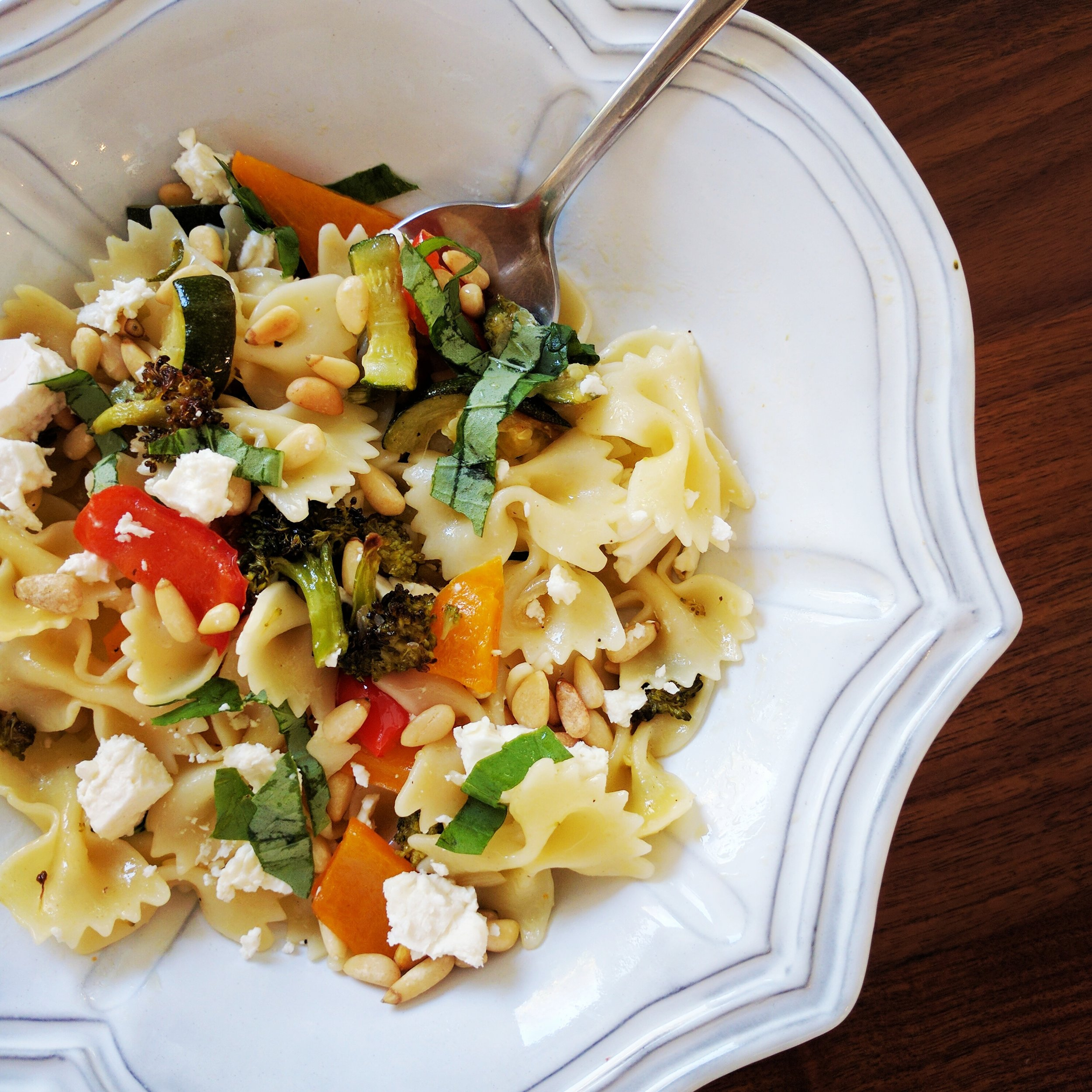 Potluck Pasta with Roasted Veggies