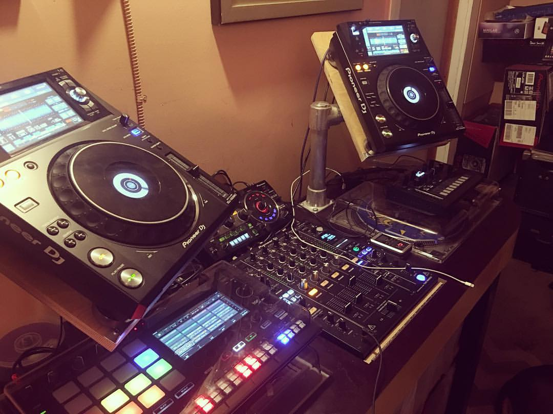 My DJ setup in my studio