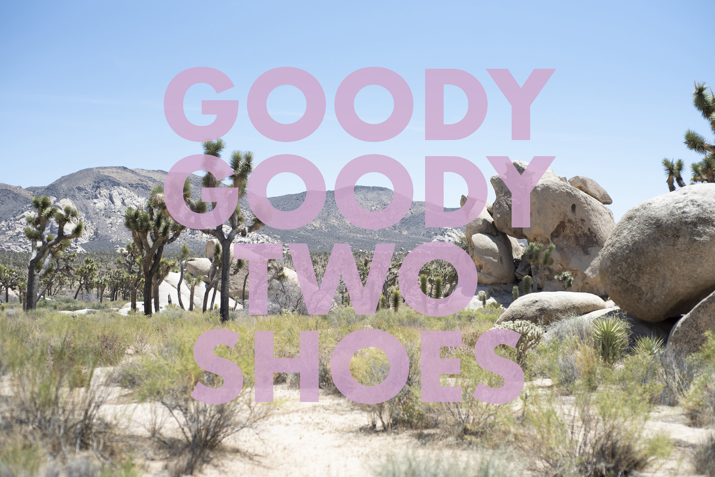GOODYGOODYTWOSHOES , 2018  Joshua Tree National Park, CA