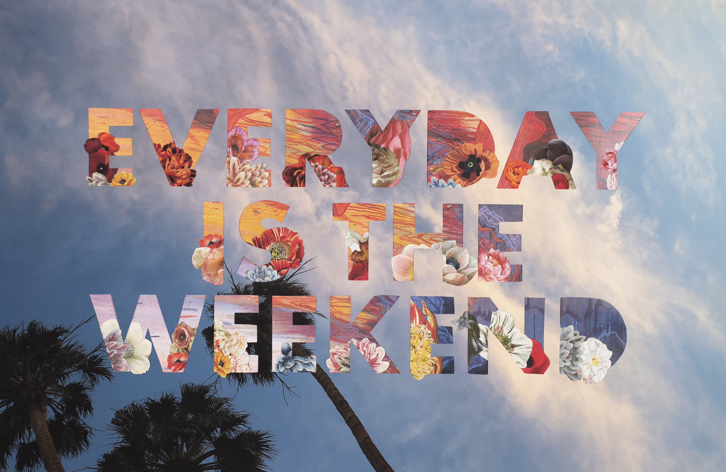 Everyday Is The Weekend (Palm Springs) , 2019 Archival pigment print, auction catalog, magazine, and printed materials Image size 13 x 20 inches