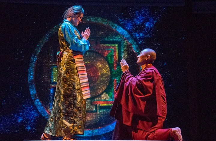 Amanda Sitton as Mother, and Tsering Dorjee Bawa as Boy - photo by Daren Scott