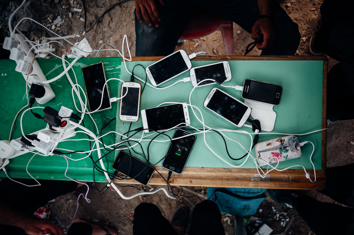 Many registration camps have charging stations for phones, the most important item in a refugee's possesion. It serves as compass, map, communication device and photo album when you miss your family at home. Oct 6, 2015.