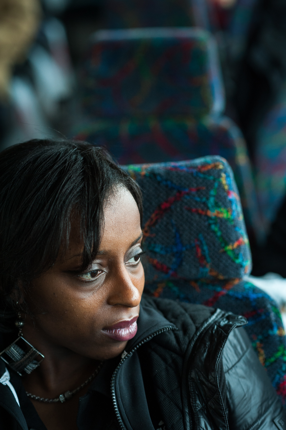 Monique, returning back to the city after visiting her boyfriend in a Correctional Facility upstate. The number of women who have incarcerated spouses is so high in the US that there are countless support groups for them that help deal with issues of isolation and shame. March 29, 2014.