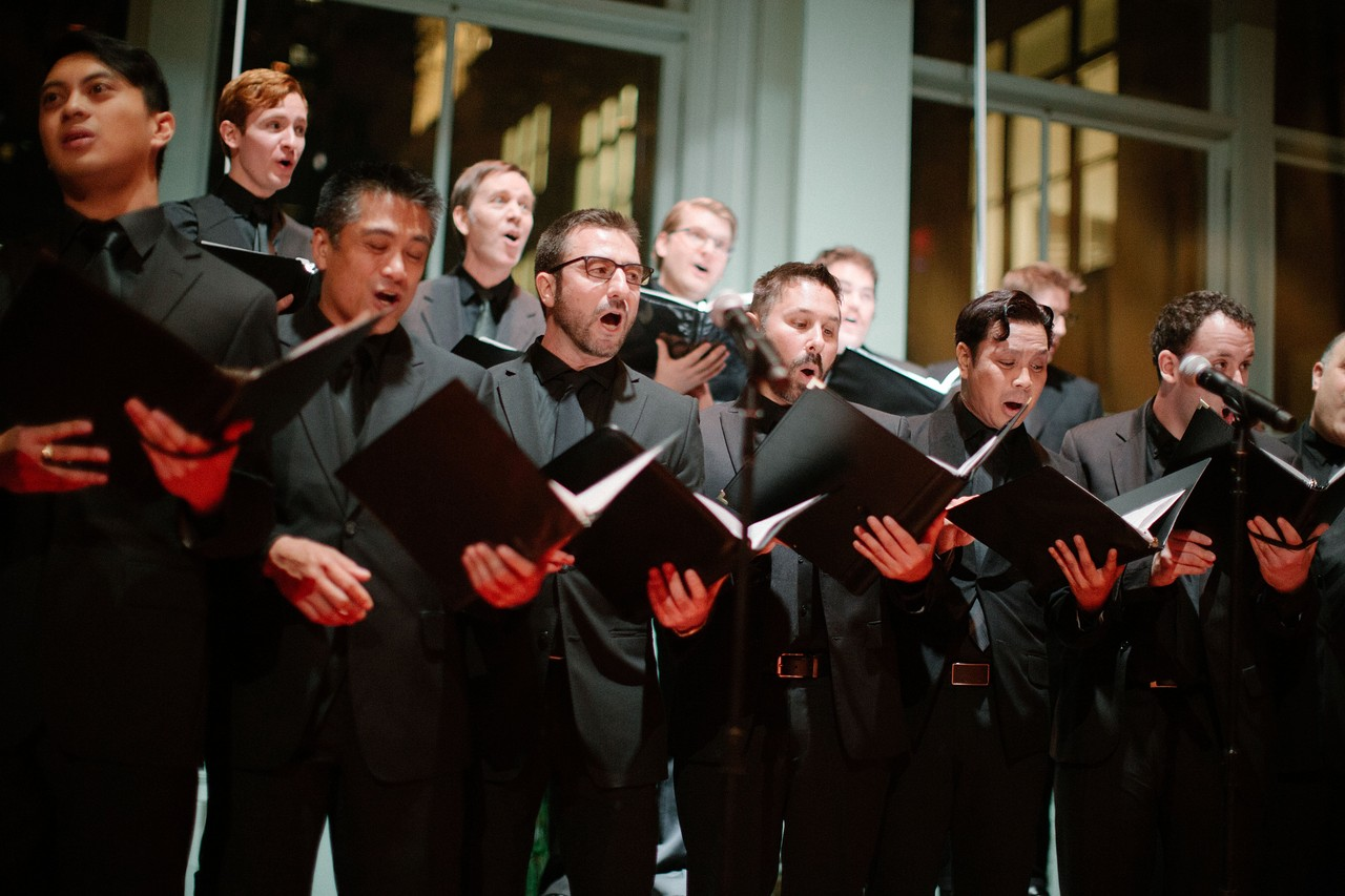 The ECMC singing inCarnegie Hall's newly refurbished   Resnick Education Wing   at the   Wedding of Gustavo Souza and Alvin Luk   on Saturday, November 15, 2014.