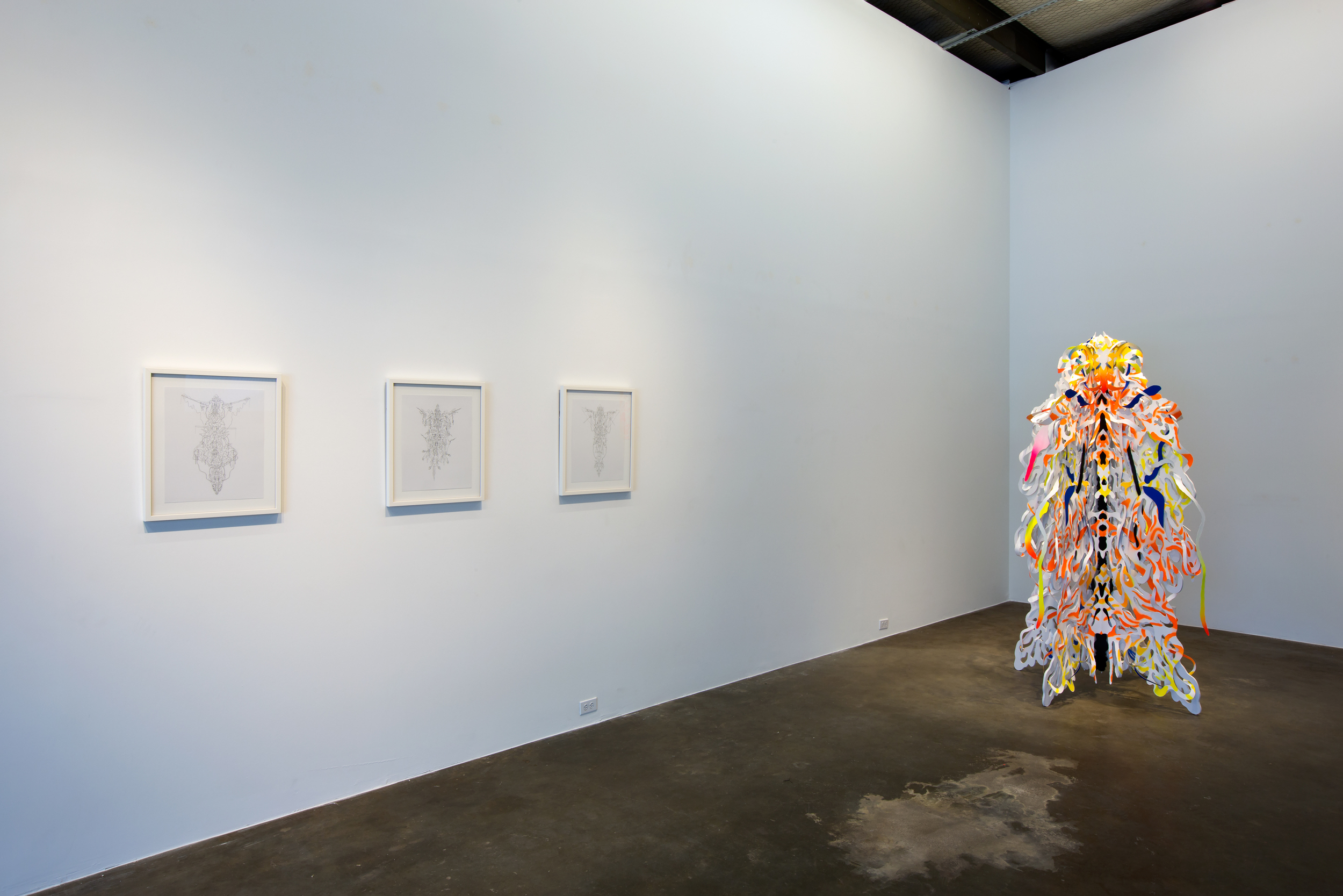 JIMMY JOE ROCHE,  CRIMCRAW , Installation view November 2014.
