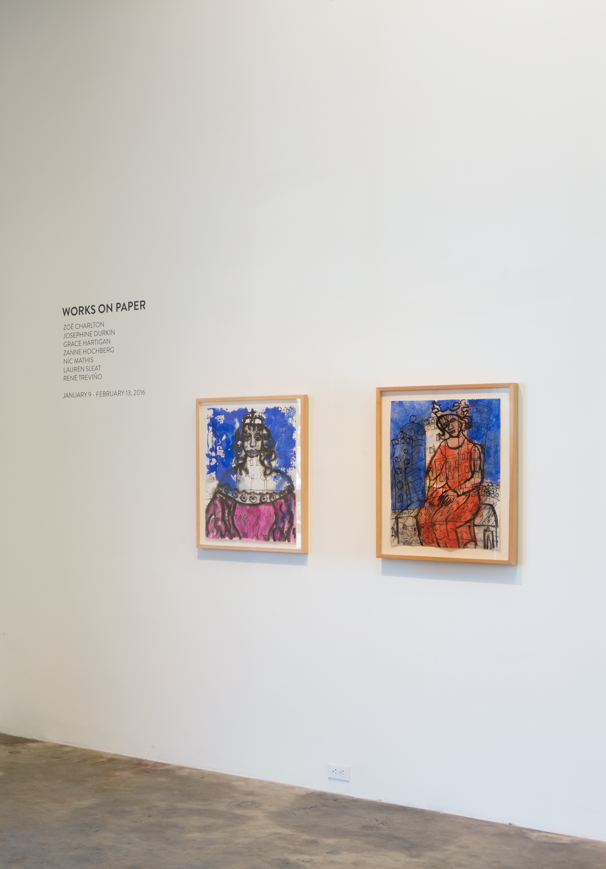 WORKS ON PAPER , Installation view, January 2016.