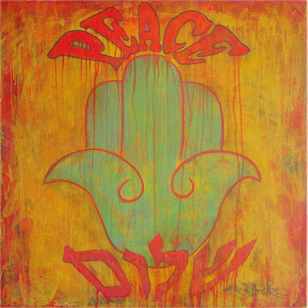 peace  30x30  acrylic on canvas