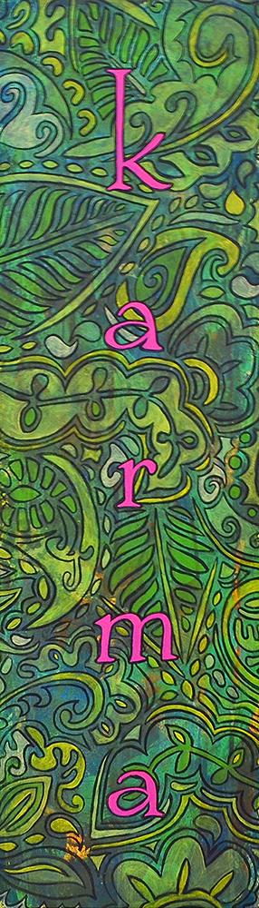 karma  36x12  acrylic on canvas