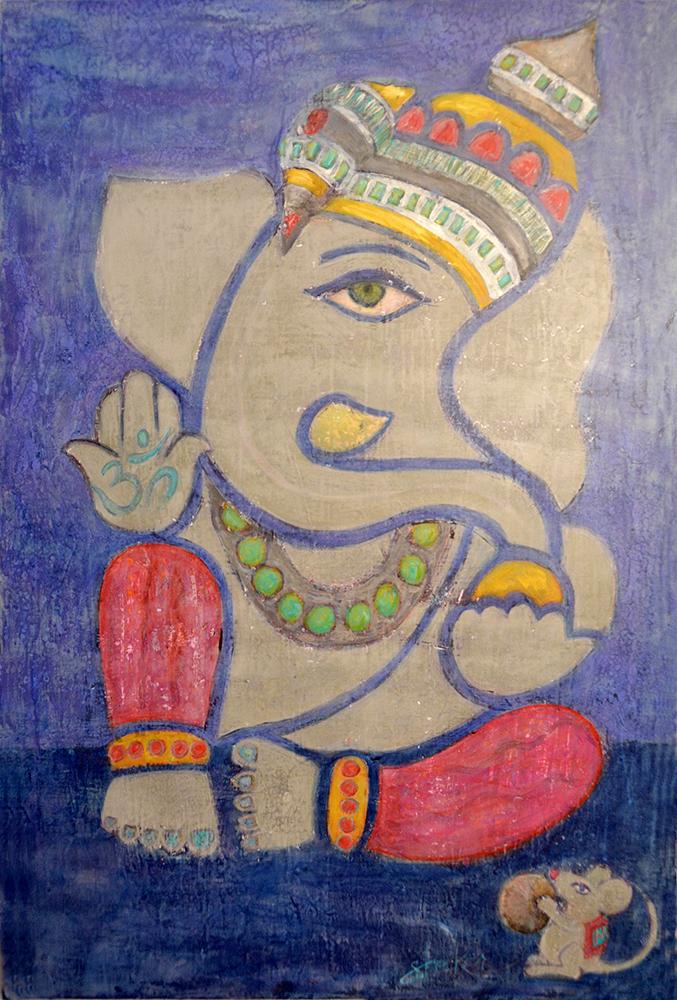 modern+ancient  36x24  acrylic on canvas