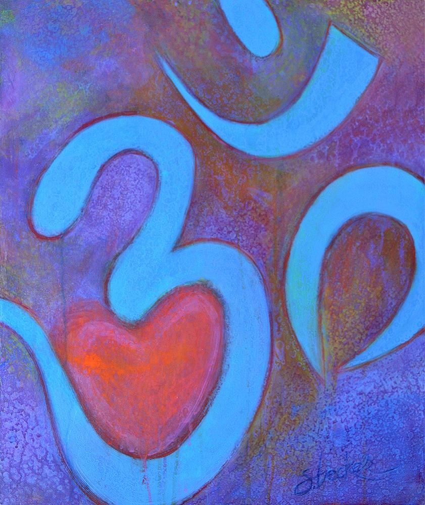 aumazing heart  30x24  acrylic on canvas
