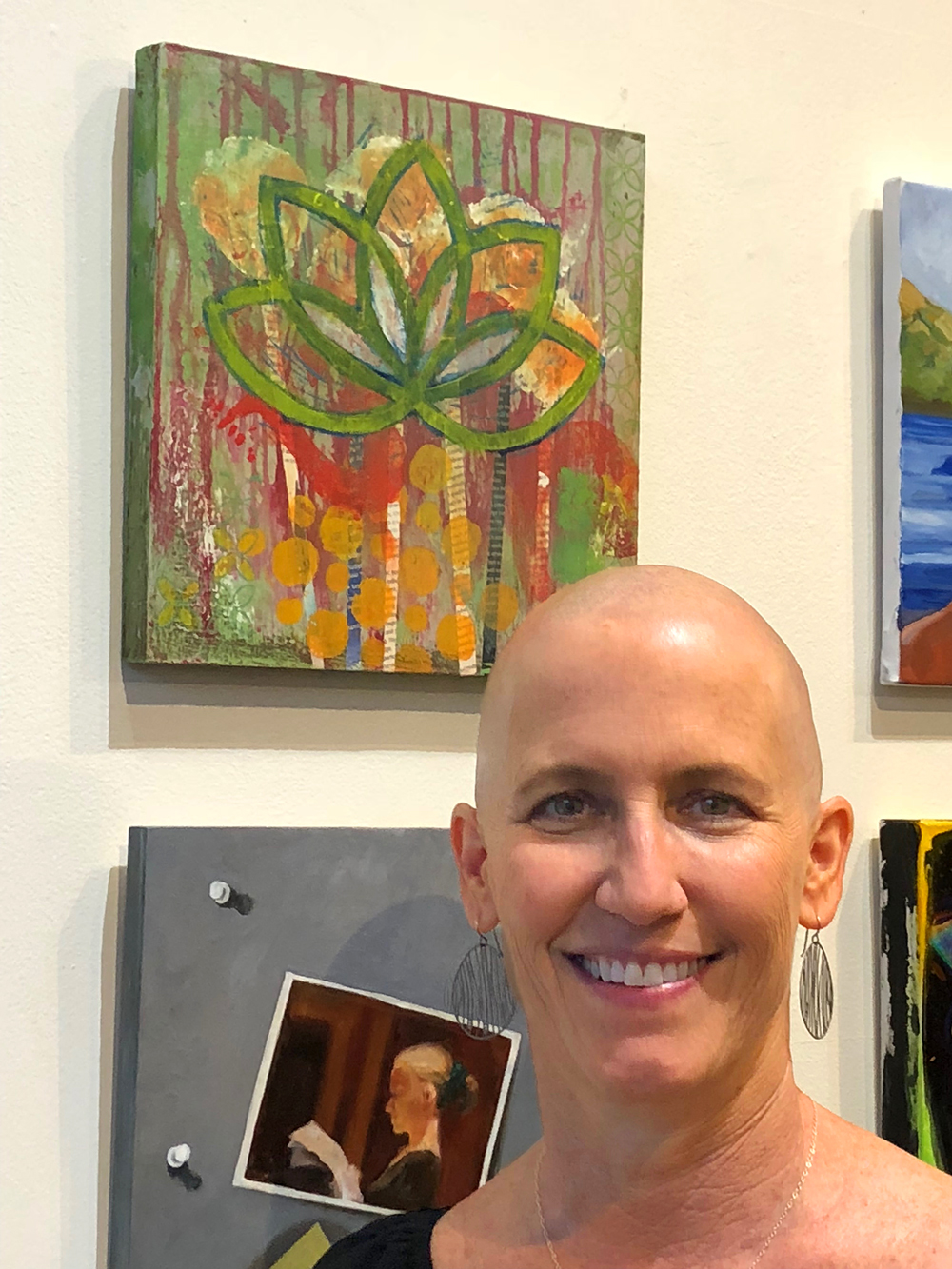 - I have a painting for sale in a group show and the opening was last night at the Seventh Annual Five15 Arts Power Of 5on grand avenue. Lots of people coming thru, it was a overwhelming as it was really my first outing other than lunch or dinner. Afterwards we popped into the Phoenix Art Museum that was also packed with people. We didn't stay long but it sure was nice to see so many folks out getting cultured.A nice way to spend our 32nd anniversary!