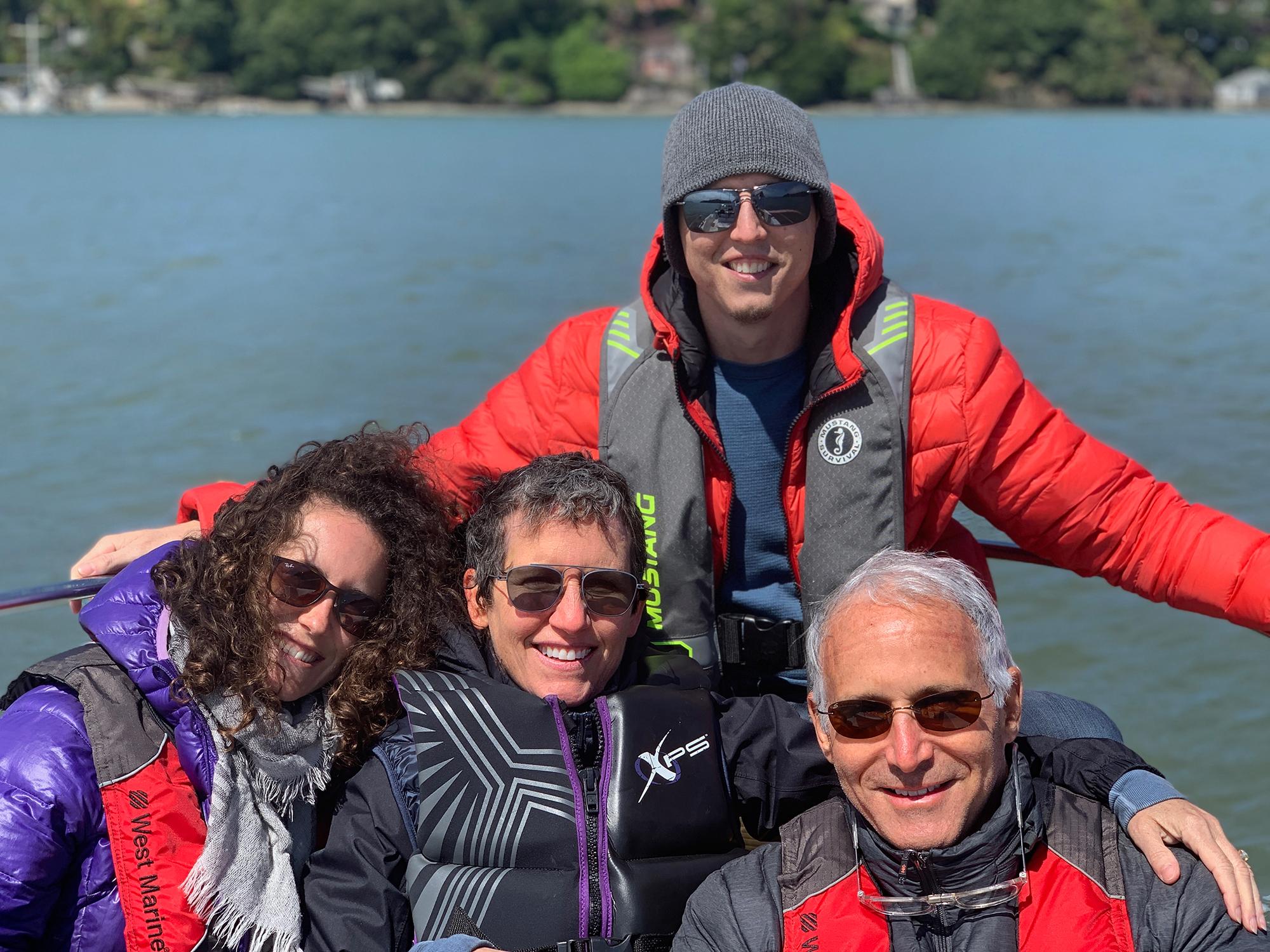 Fourth of July_ dana sara jake dave  boating [with Cheryl and Jeremy]_tiburon, CA