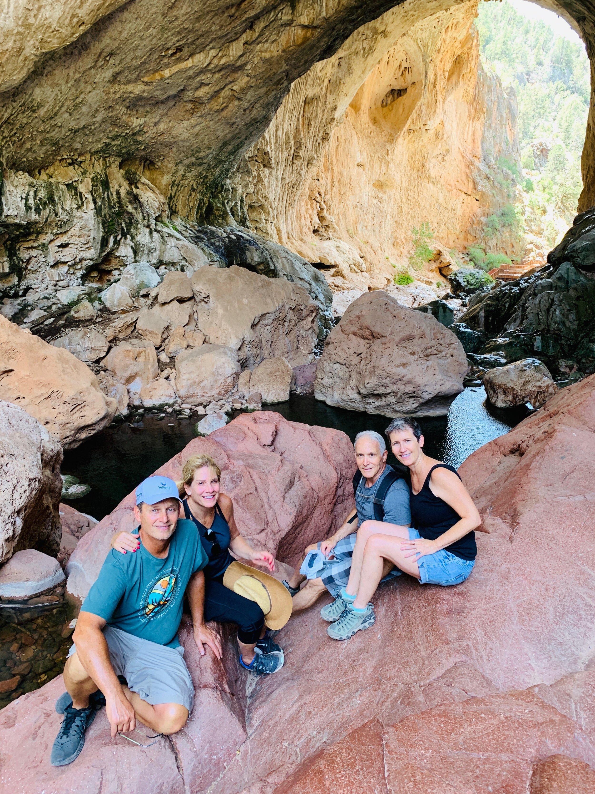 Twenty ninth of July with Ed and Lynn and Tonto natural bridge, Az