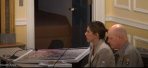 Melissa Tintocalis, Lexington Economic Development Director; BJ Dunn, Superintendent Minuteman National Historical Park