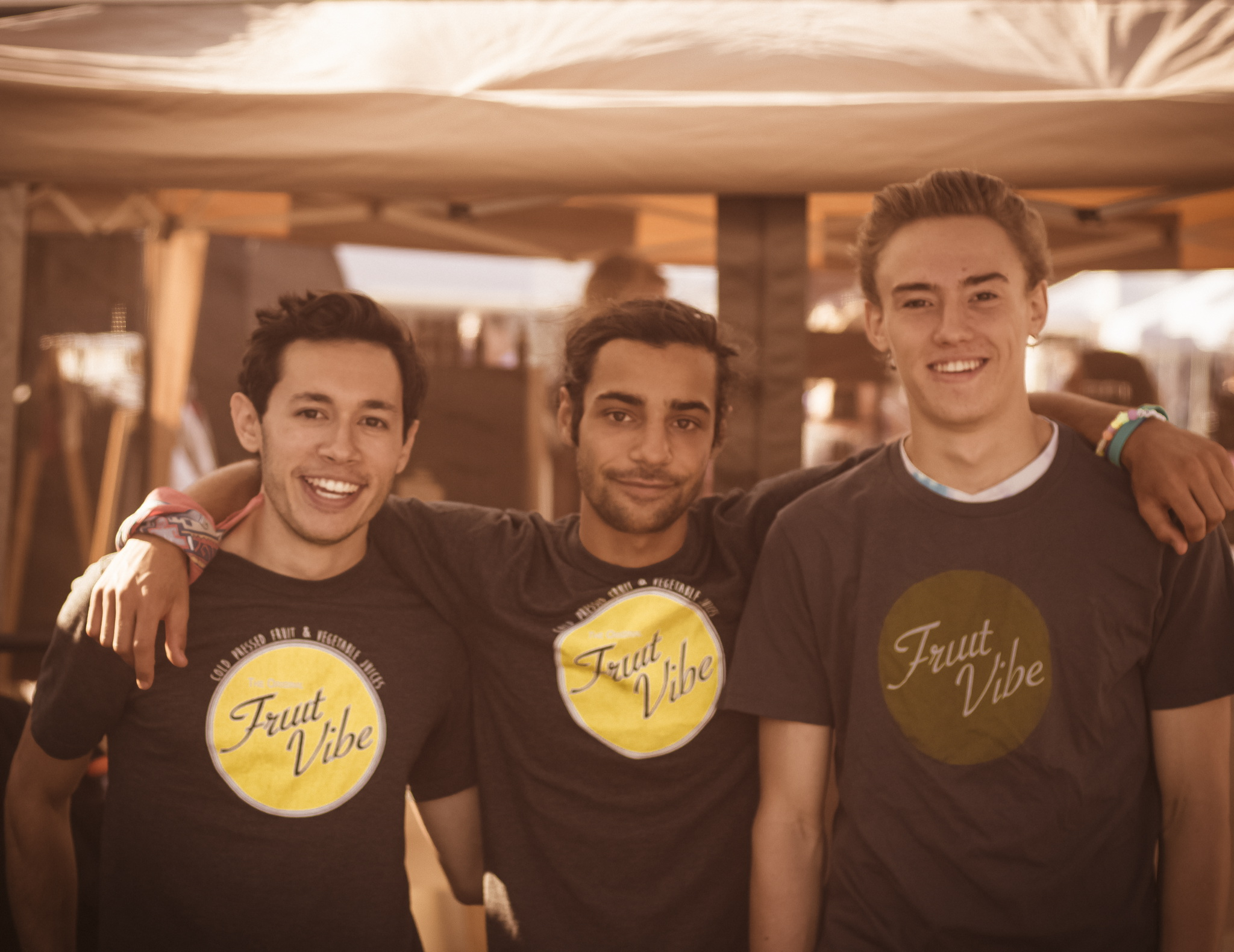 FruitVibe today! From left to right: Austin, Sam, & James
