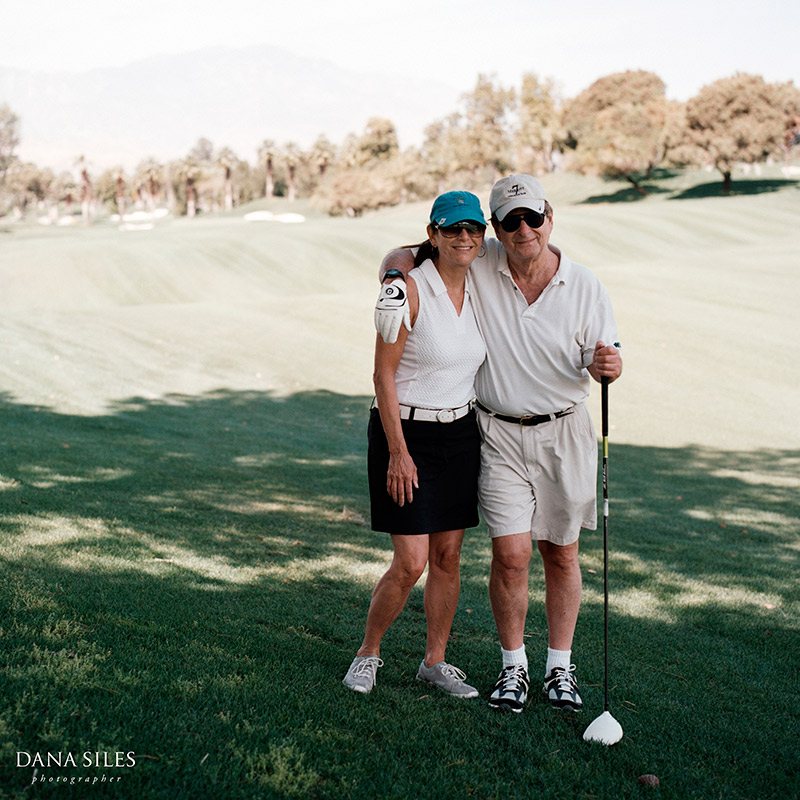 Golf day with Dad and Hilarie