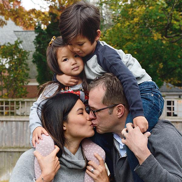 The H Family Fall Family Portrait Providence, RI