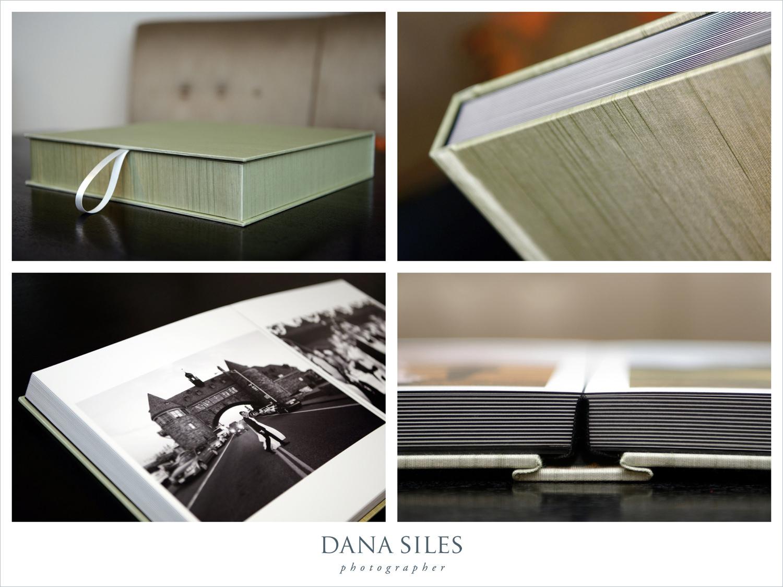 Brenda & Alan's Fine Art Wedding Album and box. Size 12x12. Celery book cloth.