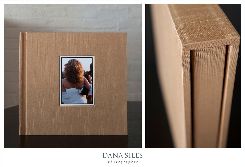 Custom Parents Album. Gold Shantung silk book cloth. Size 10x10. Color cover photo.