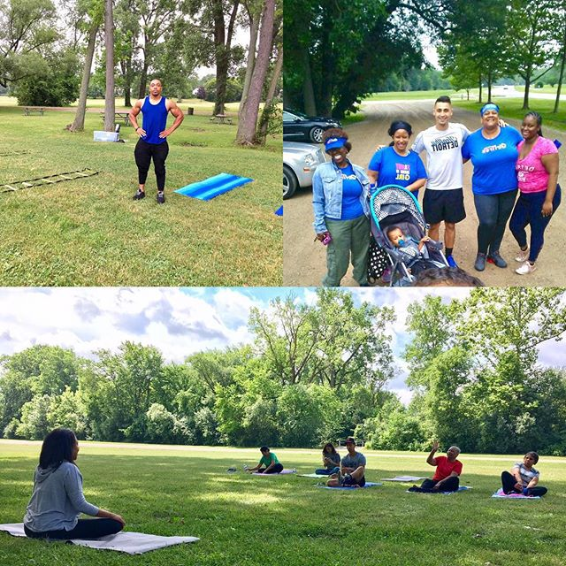 Don't forget to stop by Hines Park this Saturday for #healthydetroit days! We, in partnership with @waynecountyparks & the Friends of Wayne County Parks will be offering FREE fitness classes near Parr Recreation Area starting with Bootcamp at 9am with @builtby_b, Walking Club at 10:15am & Yoga at 11:30am with @yoganicflow. See you there! #healthparks #fitnessfunsaturdays