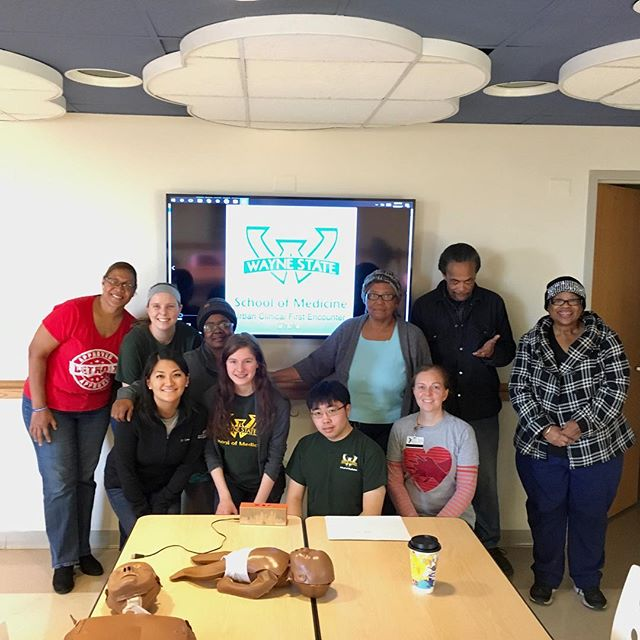Thank you @waynemedicine for teaching our residents about first aid & emergency preparedness this past weekend at Samaritan Center #HealthPark. We certainly learned a lot & look forward to the next session! #healthydetroit #healthycommunity