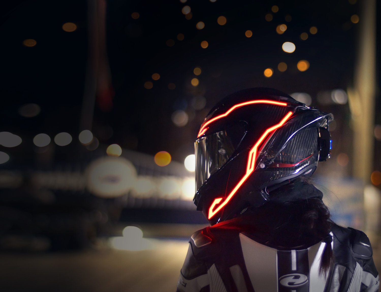 3 Mode Led Helmet Light Strip Decoration Accessories Kit for Motorcycle Bike Helmet Night Riding Signal Helmet EL Light Unique Flame Shape 4PCS Rechargeable Motorcycle Helmet Light Green