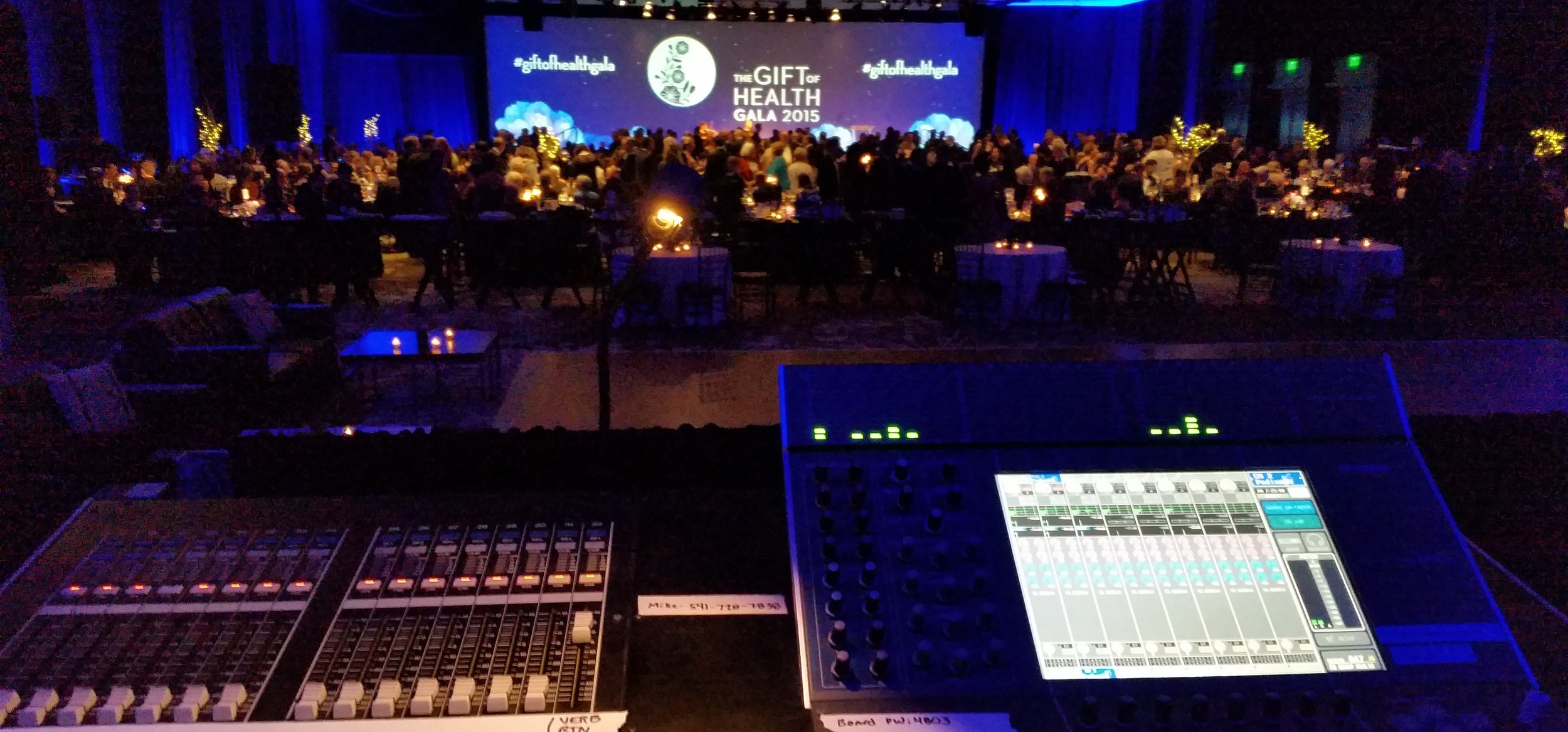 Mixing a fundraiser gala emceed by local TV personality Jesse Jones