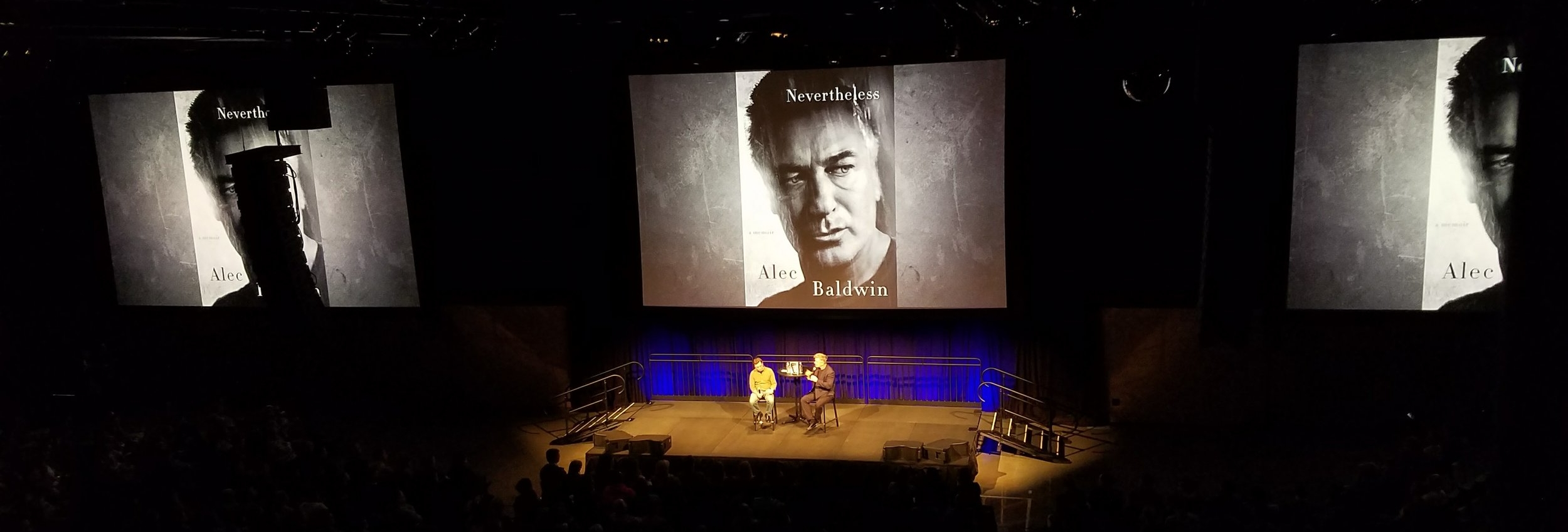 Mixing an interview with Alec Baldwin at the Amazon Meeting Center.