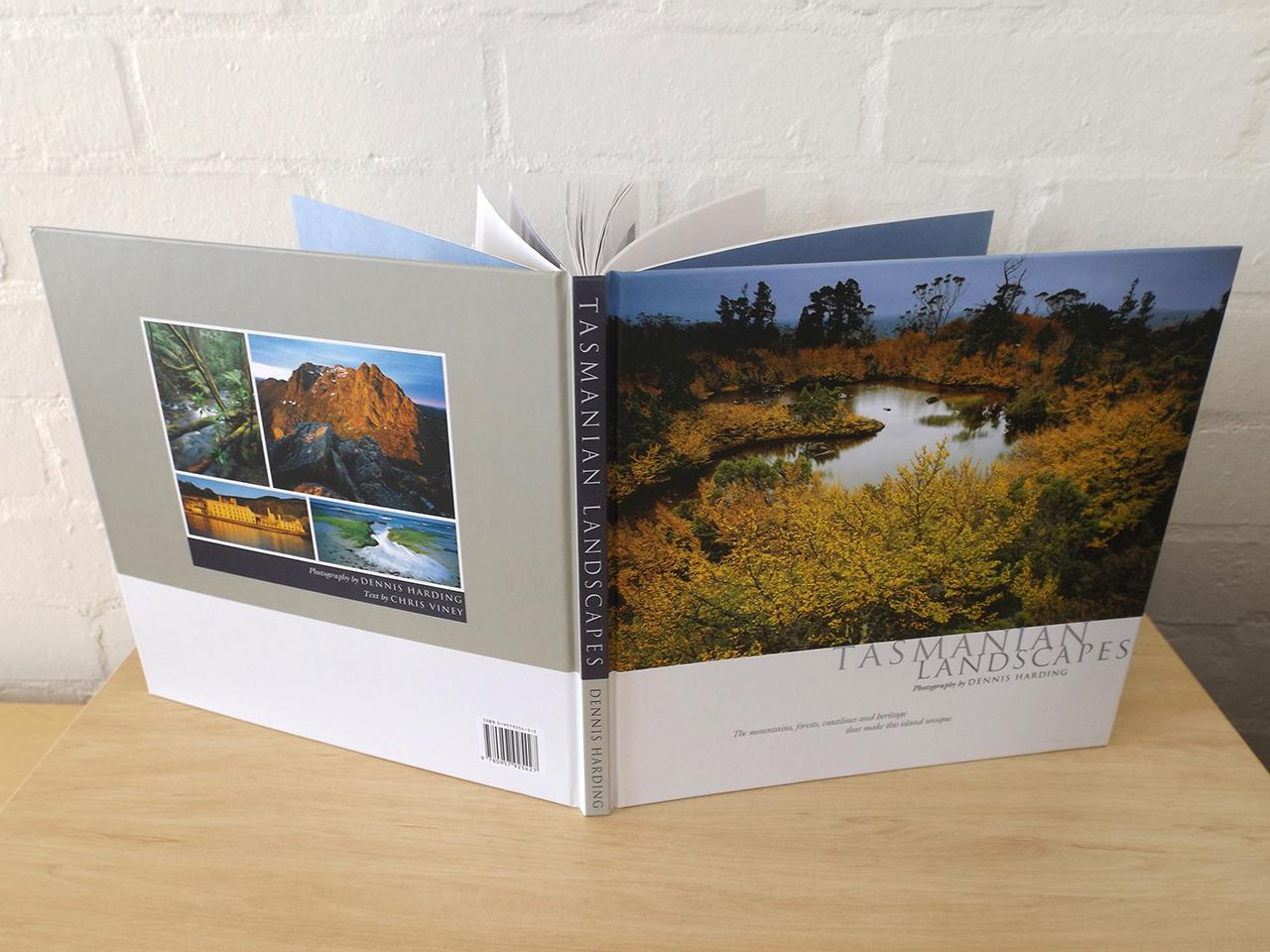 'Tasmanian Landscapes' Book design (also posters, calendars, postcards etc) – DENNIS HARDING.