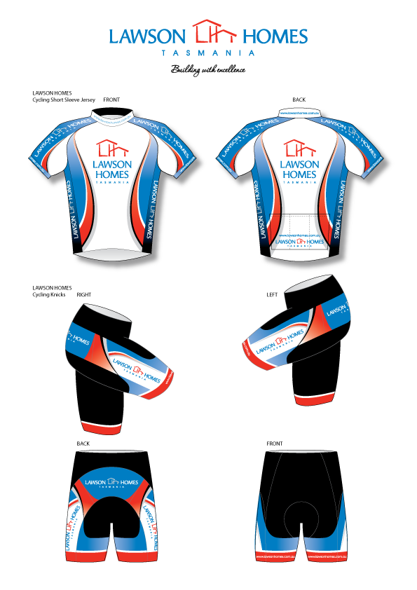 LAWSON HOMES - Brand development, collaterals, merchandise and professional cycling team uniform design.